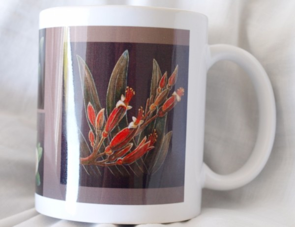 Mug - fruit and flowers front view