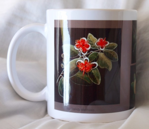 Mug - fruit and flowers back view