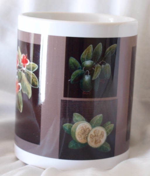 Mug - fruit and flowers side view